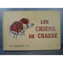 Les chiens de chasse Manufrance bel exemplaire de 1938, superbes gravures de chiens en couleur