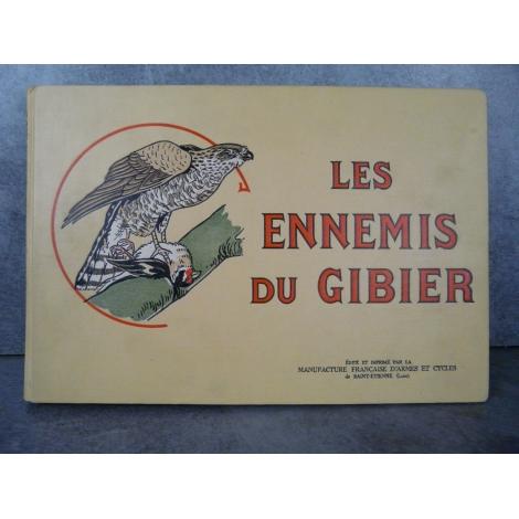 Les ennemis du gibier Manufrance bel exemplaire de 1935, superbes gravures d'animaux en couleur, chasse, écologie, faune