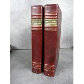 Swift Les quatre voyages de Lemuel Gulliver Librairie des bibliophiles Jouaust 1875 sur hollande gravures de Lalauze