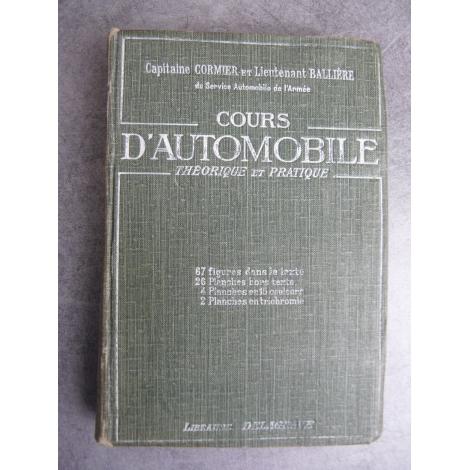 Cormier Ballière cours d'automobile 1920 voiture collection Magneto gravures