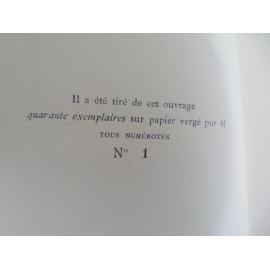 Paul Fort La Lanterne de Priollet Le N°1 exemplaire sur pur fil des imprimeurs avec envoi à Robert et Albert Emile-Paul