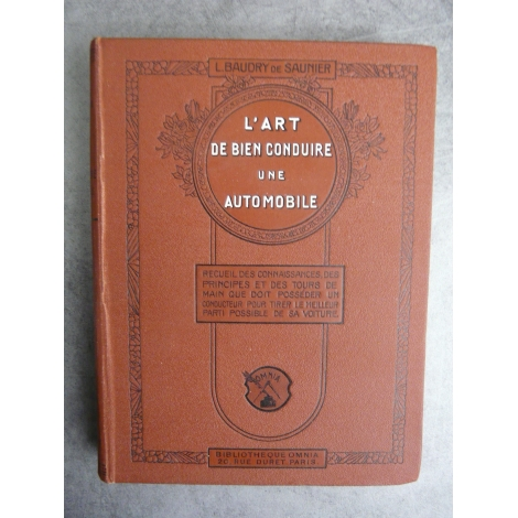 Baudry Saunier L'art de bien conduire une automobile vers 1910