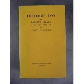 Réage (Pauline) Histoire d'O Seconde édition Pauvert 1961 Bon exemplaire