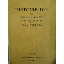 Réage (Pauline) Histoire d'O edition originale Pauvert 1954 le N° 428 tirage hors commerce Pauvert