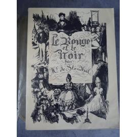 Stendhal Le rouge et le noir Crès 1922 Vignettes de Quint Beau livre illustré sur velin. Beau papier.