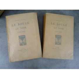 Stendhal Le rouge et le noir Crès 1912 Portraits gravés par Vibert numéroté sur vélin d'arche.
