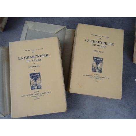 Stendhal La Chartreuse de Parme Crès 1922 Frontispices De Becque numéroté sur vélin d'arche. Maîtres du livre bibliophilie