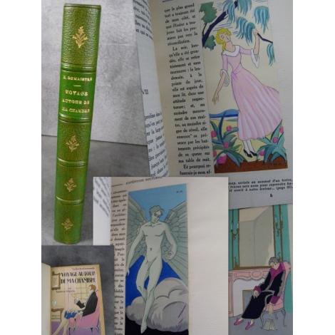 De Maistre Maggy Monier aquarelles, Voyage autour de ma chambre beau livre illustré bien relié. Nilsson Collection Emeraude