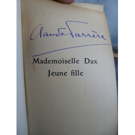 Claude Farrere Mademoiselle Dax jeune Signé par l'auteur 1908 demi cuir marine bon exemplaire.