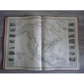 Vuillemin Atlas commercial industriel année 1860 8 très grandes cartes gravées splendide