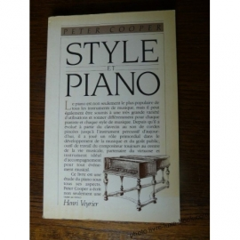 PIANO STYLE ET PIANO COOPER PETER