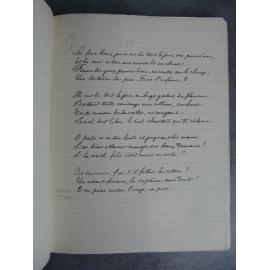 Paul Verlaine Sagesse Manuscrit remis en 1881 Messein Manuscrits des maîtres N° 45 avec un portrait sur chine