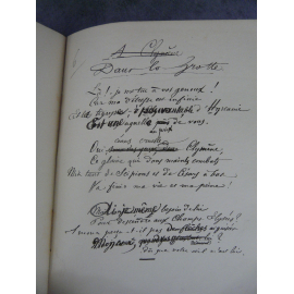 Paul Verlaine Fêtes Galantes Manuscrit Messein Manuscrits des maîtres N° 859 avec un portrait sur chine d'après Fantin Latour