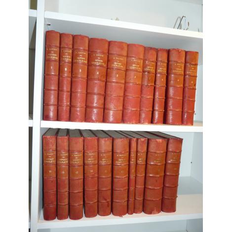 Daudet Oeuvres complètes illustrées N° 29 reliure cuir complet en 20 grands volumes beaux livres petit prix