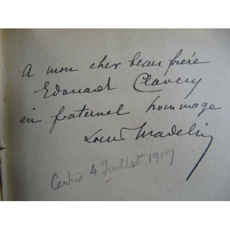 Madelin Louis Heures merveilleuses d'Alsace et de lorraine. Avec dédicace signée à Clavery Edouard