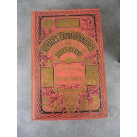 Collection Hetzel Hachette Jules Verne Etonnante aventure mission Barsac cartonnage à un éléphant Voyages extraordinaires