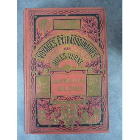 Collection Hetzel Hachette Jules Verne Vingt mille lieues sous les mers cartonnage à un éléphant Voyages extraordinaires