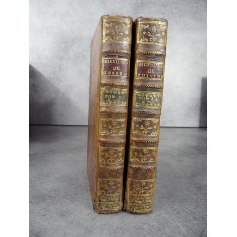 Dictionnaire portatif de cuisine d'office et de distillation 1767 Gastronomie, Diététique nutrition