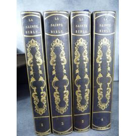 Bible Lemaistre de Sacy 1841 Gravure reliure romantique, exemplaire de Achille Dumont de Montroy Beauvais