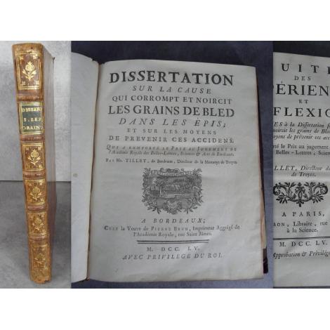 Tillet Dissertation sur la cause qui corrompt et noircit les grains de bled dans les épis et sur les moyens de prévenir