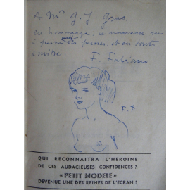 Federico Fabiano Priscilla Journal intime avec envoi et dessin de l'auteur Curiosa Erotisme A saisir en l'état