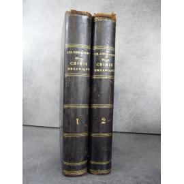 Gerhardt Charles Chimie organique Edition originale par l'inventeur de l'aspirine, synthèse de l'acide acétylsalicylique