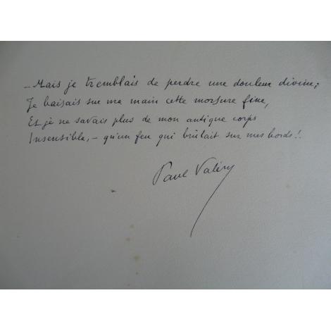 Valery Paul , Daragnès Illustrations, La Jeune Parque Belle dédicace avec poème manuscrit