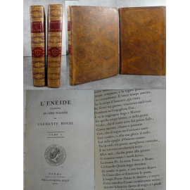 L'Eneide tradotta in versi italiani da Clemente Bondi, superbe impression du célèbre Bodoni