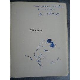 Carco Verlaine par Francis Carco envoi et autoportrait de Carco