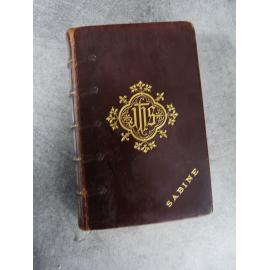 Sacred Heart Petit missel personnalisé Reliure Supra libris Provenance Sabine Turquet de la Boisserie Beauvais