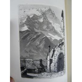 Drevet, Joanny Pierre Scize En Altitude Eaux fortes et gravures bel exemplaire Numéroté sur vélin Rive, Alpes Alpinisme Montagne