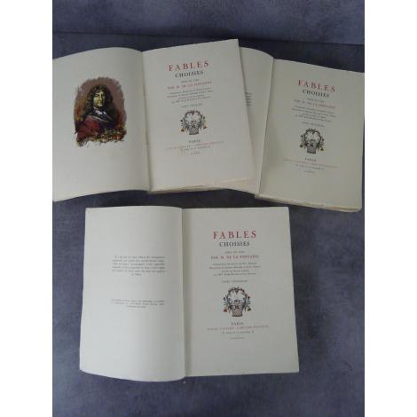 La Fontaine Fables choisies Illustrations de Baudier, Malassis, Bonnet, Librairie Conard 1930-1933