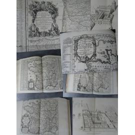 Atlas Tableau des Abbayes et des monastères d'hommes en France Cartes et gravures. Arras 1875