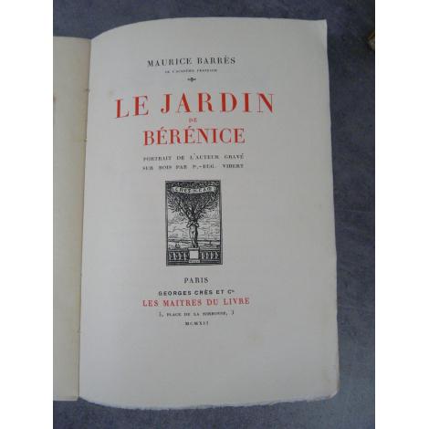 Maurice barr s le jardin de b r nice ma tres du livre - Effroyables jardins resume du livre ...