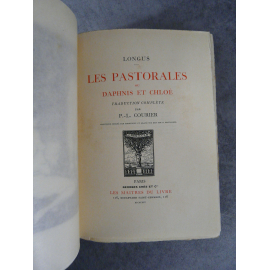 Longus Les pastorales ou Daphnis et Chloé Paris re Maîtres du Livre Georges Crès 1914 Numéroté sur papier de Rives très frais