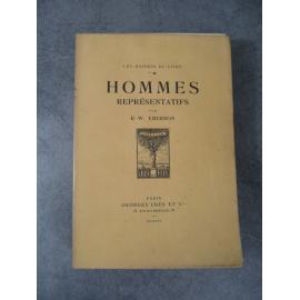 Emerson Ralph Waldo Decaris Hommes repésentatifs 1919 Maîtres du Livre Georges Crès Numéroté sur papier vélin de Rives