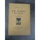 Louis Bertrand Le sang des races Maîtres du Livre Georges Crès 1921 Numéroté sur papier de Rives Algérie Colonies