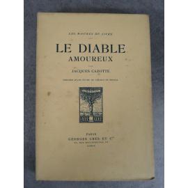 Cazotte Jacques Nerval Bischoff Le diable Amoureux Maîtres du Livre Georges Crès 1920 Numéroté sur papier de Rives