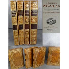 Restif de la Bretonne Sylvain Sauvage Monsieur Nicolas Reliures décoratives grand format Beaux livres illustrés