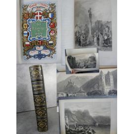 Veuillot Les pèlerinages de Suisse Keepsake Chrétien 1839 Complet des 2 parties et des gravures bon exemplaire