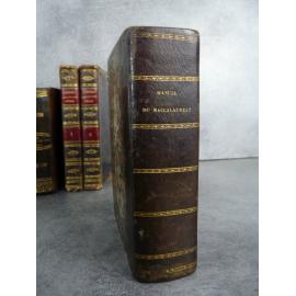 Nouveau manuel du baccalauréat ès lettre Hachette 1841 Philosophie, littérature histoire géographie mathématique physique...