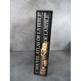 Dictionnaire et Atlas de la bible Bepols 1985 Deux grands volumes sous emboîtage .