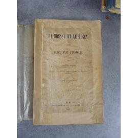 Jarrin, La Bresse et le Bugey place dans l'histoire Tome 4 et apendice des tomes 1,2,3, 4 . Bourg Authier 1887