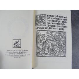 Nicolas Le Rouge Le grant kalendrier et compost des Bergiers astrologie Jean de Bonnot tirage de tête numéroté Etat de neuf.