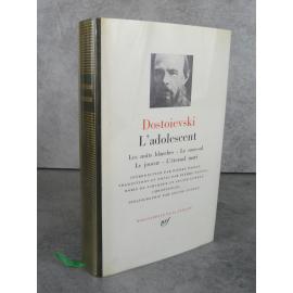 Collection Bibliothèque de la pléiade NRF Dostoïevski L'adolescent, les nuits blanches, le sous sol
