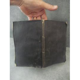 Brochage de deuil papier noir, Oraisons funèbres de Louis XVIII par Bonnevie, impression de Perrin à Lyon. 1824