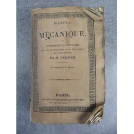 Encyclopédie Roret, Manuel de mécanique (mécanique, physique, sciences)
