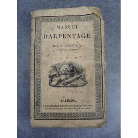 Encyclopédie Roret, Manuel d'arpentage (agriculture, ferme, nature, écologie)
