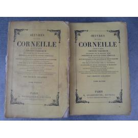 Œuvres des deux Corneille (Pierre et Thomas Corneille), précédés de la vie de Pierre corneille (théâtre, littérature)
