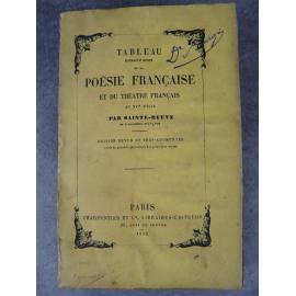 Sainte-Beuve, tableau historique et critique de la poésie française et du théâtre français au XVIe siècle (académie française)